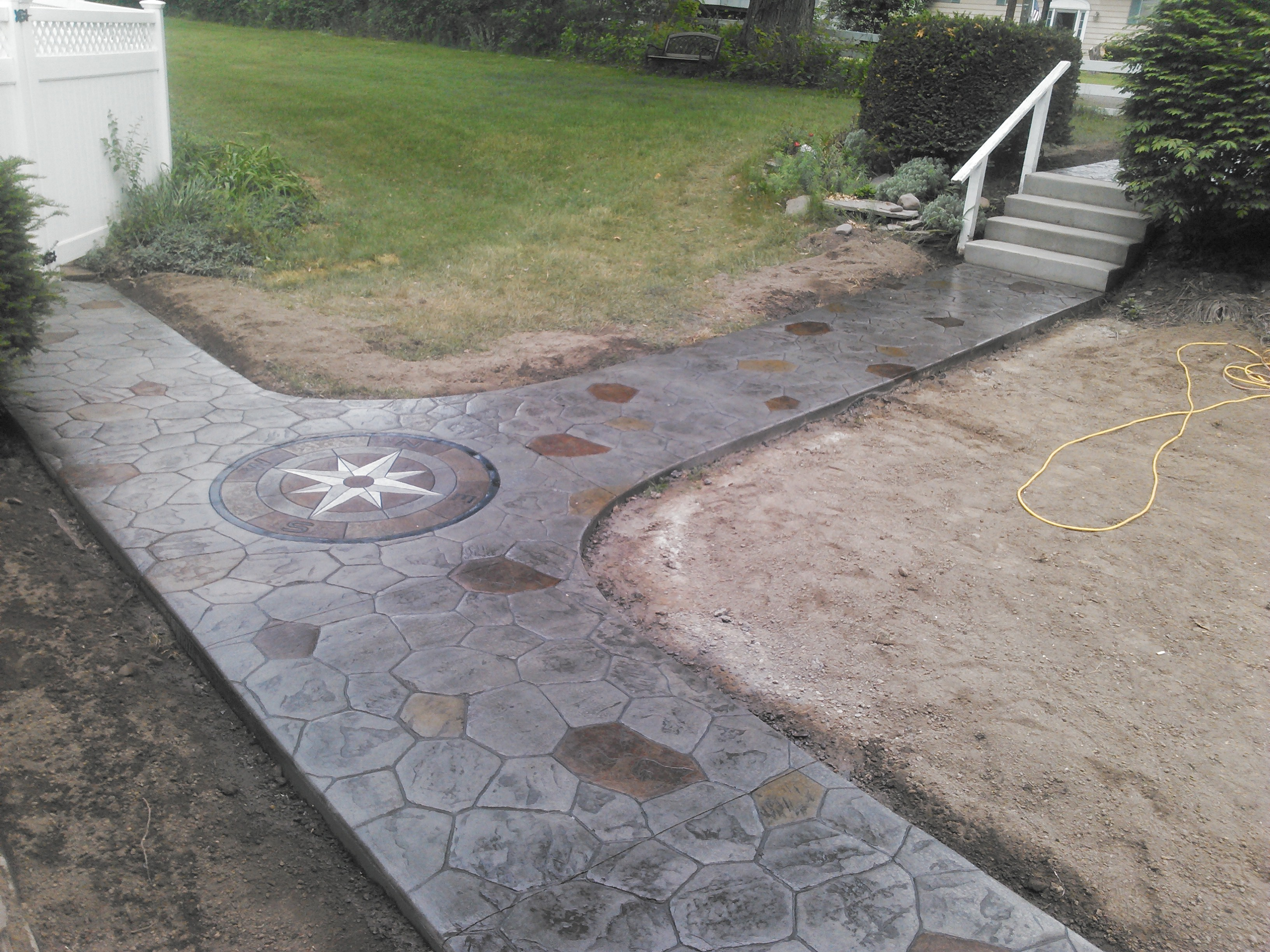 Stamped Concrete Architecture : Stamped concrete walkway binghamton ny snow s building