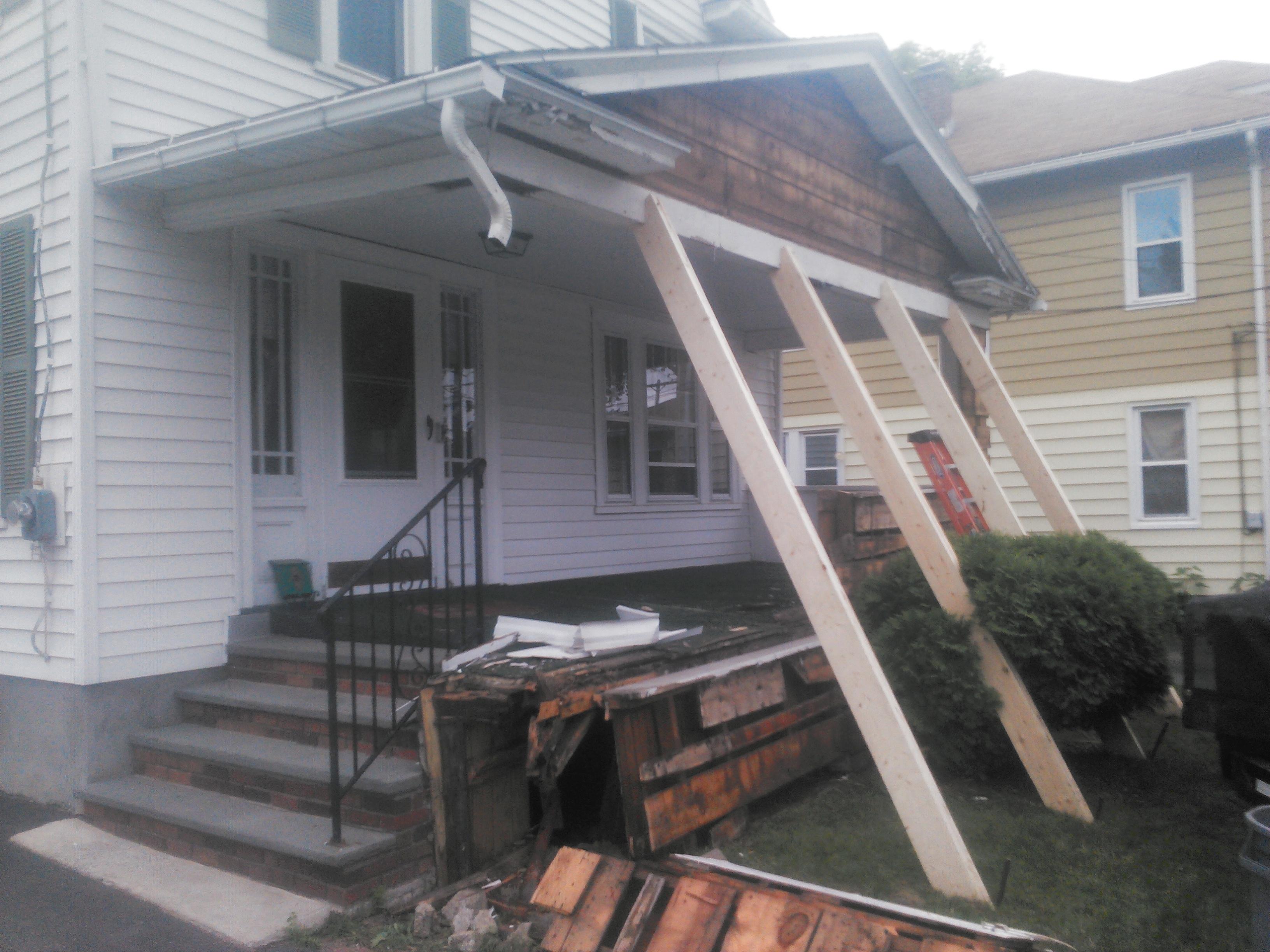 New Porch Cultured Stone Brick Install Binghamton NY Snow 39 S Buil